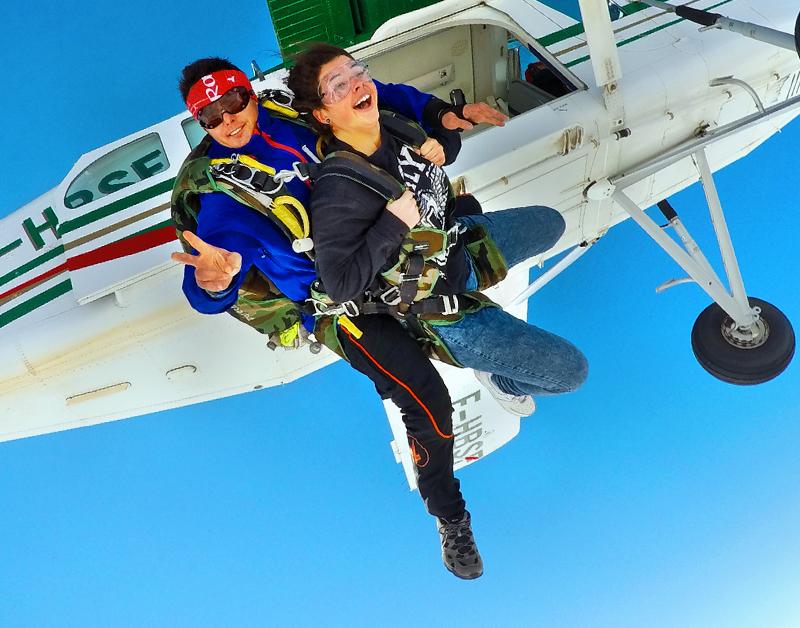 saut en parachute 6000m